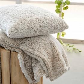 Κουβέρτα Προβατάκι Καναπέ 130x170 PALAMAIKI SEPIA MOKA