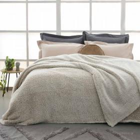 Κουβέρτα Προβατάκι Υπέρδιπλη 220x240 PALAMAIKI SEPIA MOKA