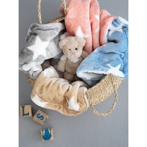 Κουβέρτα Παιδική Μονή (με Γούνα) PALAMAIKI STAR GREY
